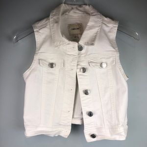 Kid's Cherokee White Denim Vest Sz 10/12